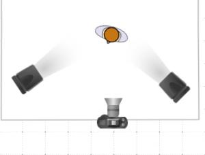 Lighting setup for a simple Hot Wheels photo shoot